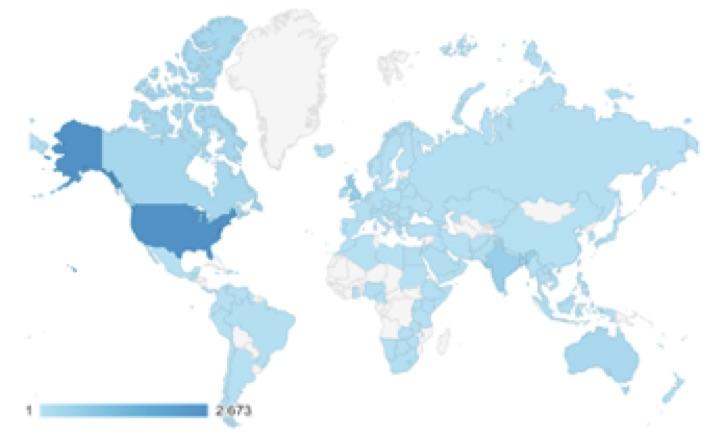 Distribuzione degli utenti di www.pharmacovigilance.eu